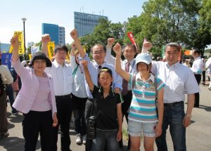 日本共産党渋谷区議団も原発ゼロ集会に
