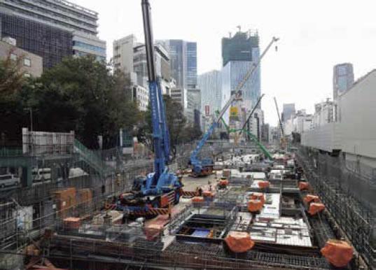 建設工事中の宮下公園